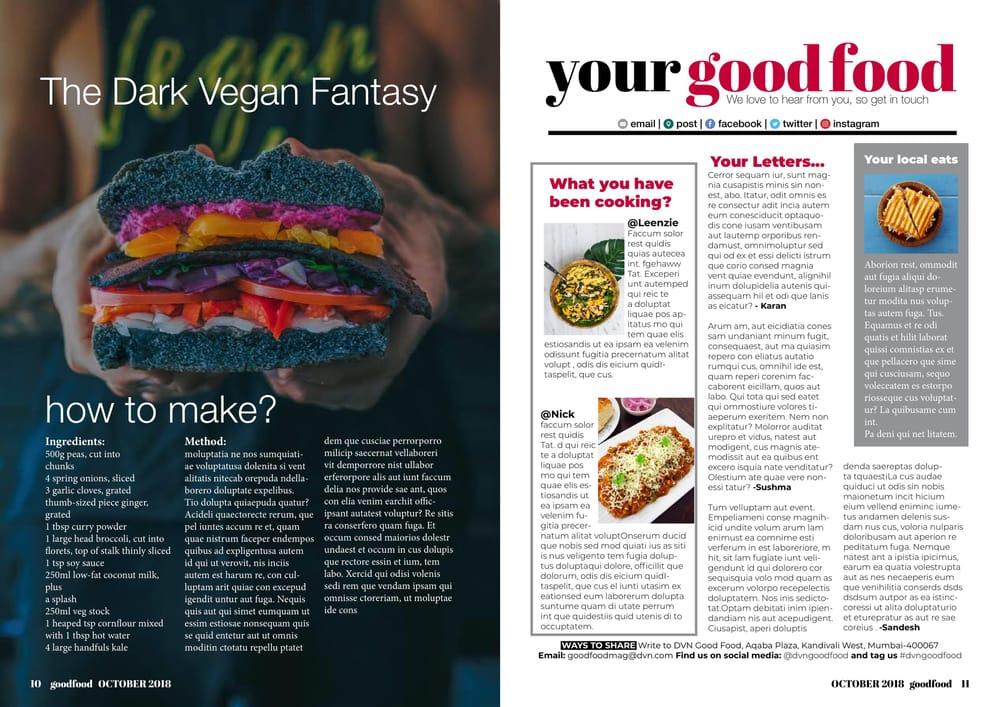 Food Magazine - image 6 - student project