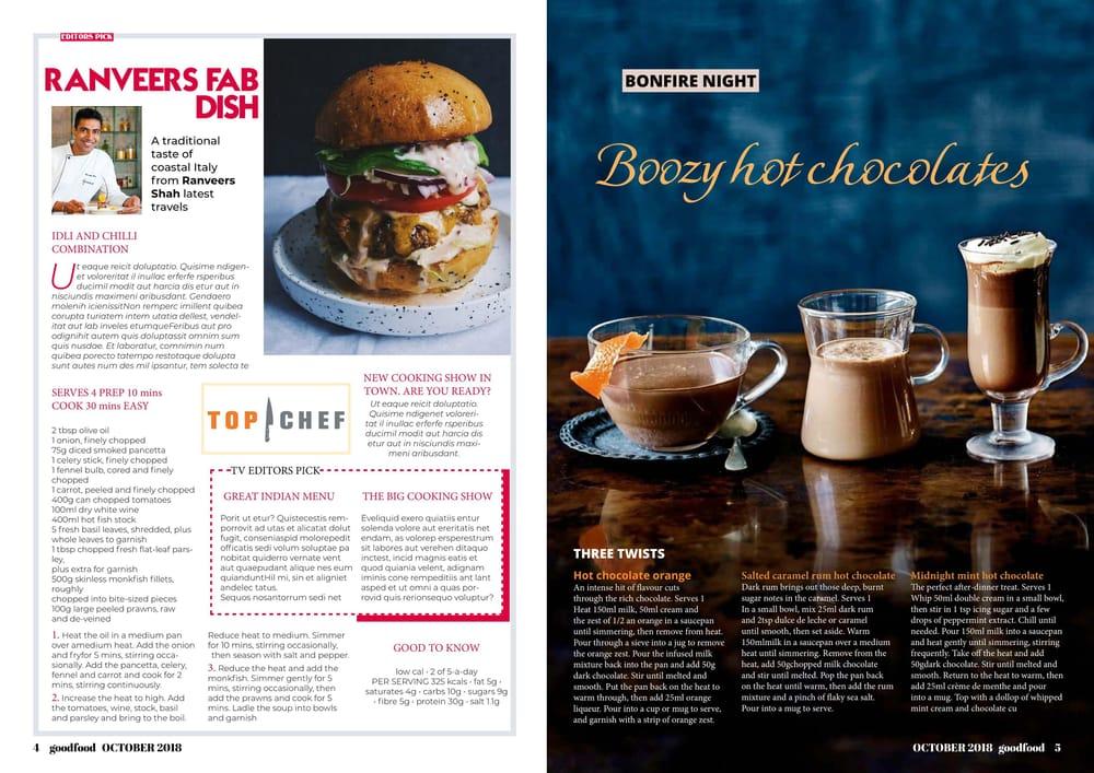 Food Magazine - image 3 - student project