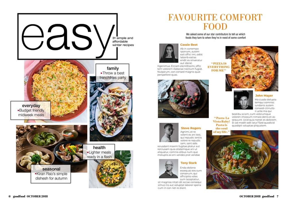 Food Magazine - image 4 - student project