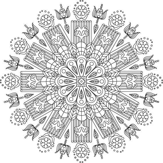 My First Coloring Page-Mandala Exercise - image 1 - student project