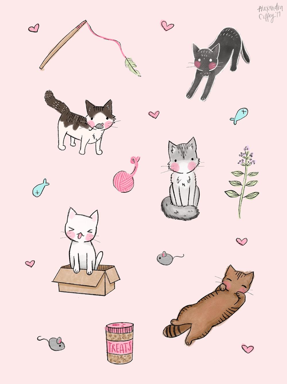 Cat Doodles - image 1 - student project