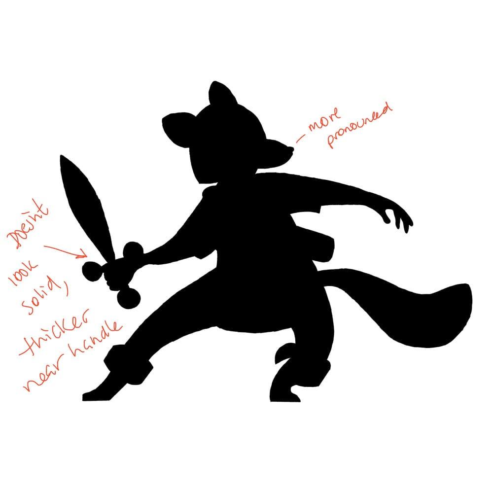 Raccoon Swordsman - image 5 - student project