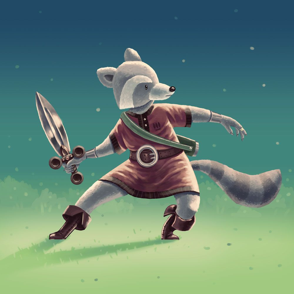 Raccoon Swordsman - image 9 - student project