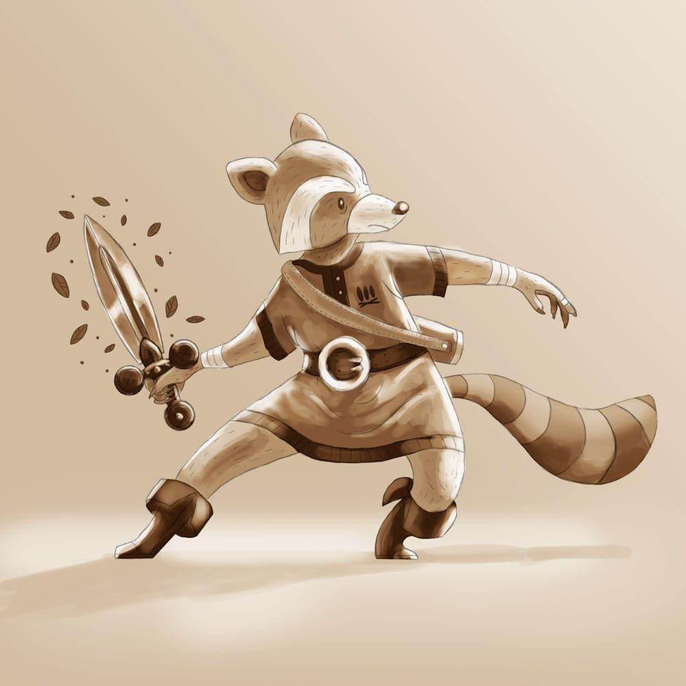 Raccoon Swordsman - image 7 - student project
