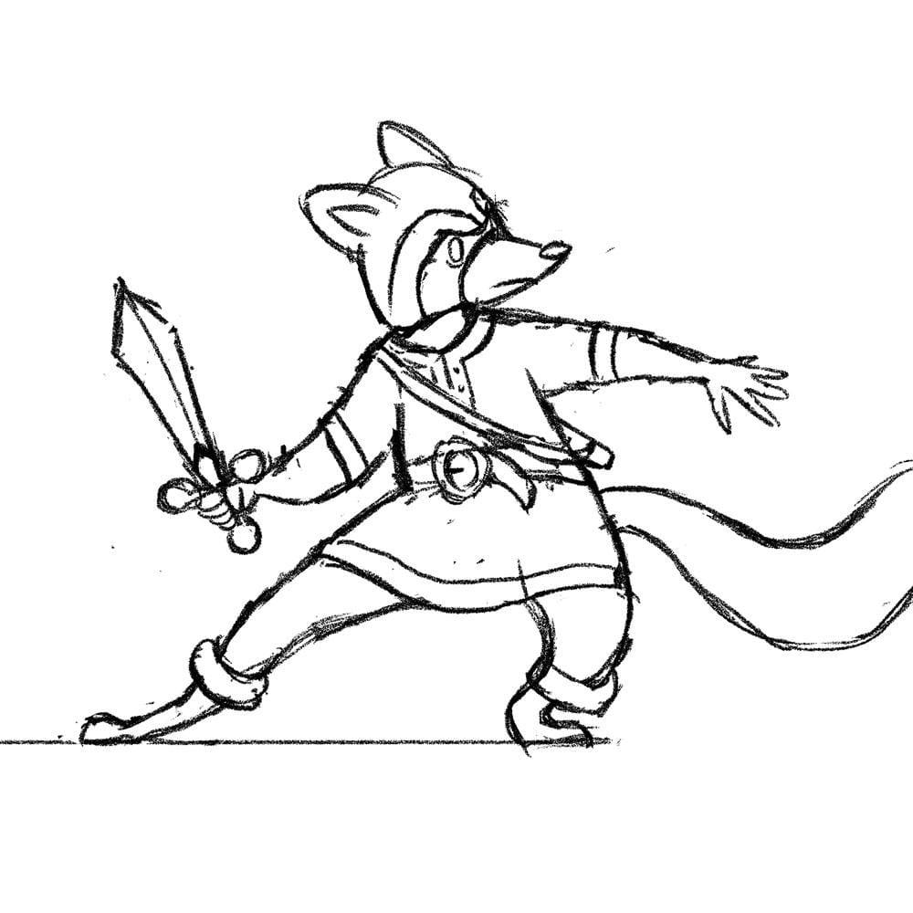 Raccoon Swordsman - image 2 - student project