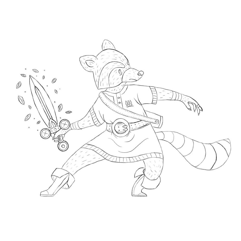 Raccoon Swordsman - image 6 - student project
