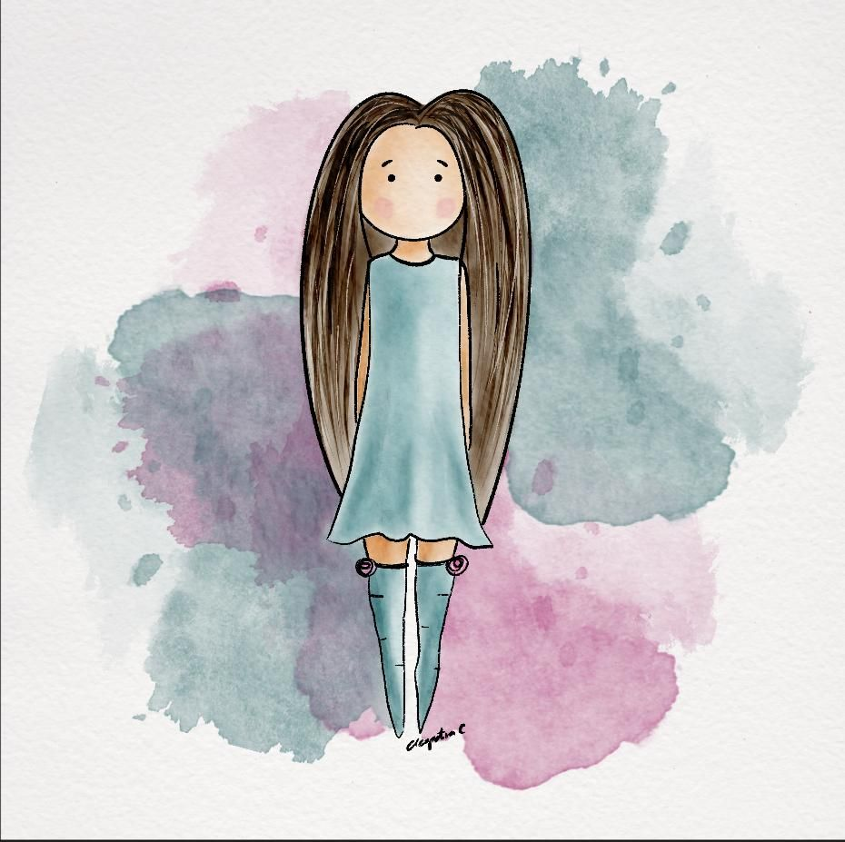 Sweet and Stylized Girl by Cleopatra C. - image 1 - student project