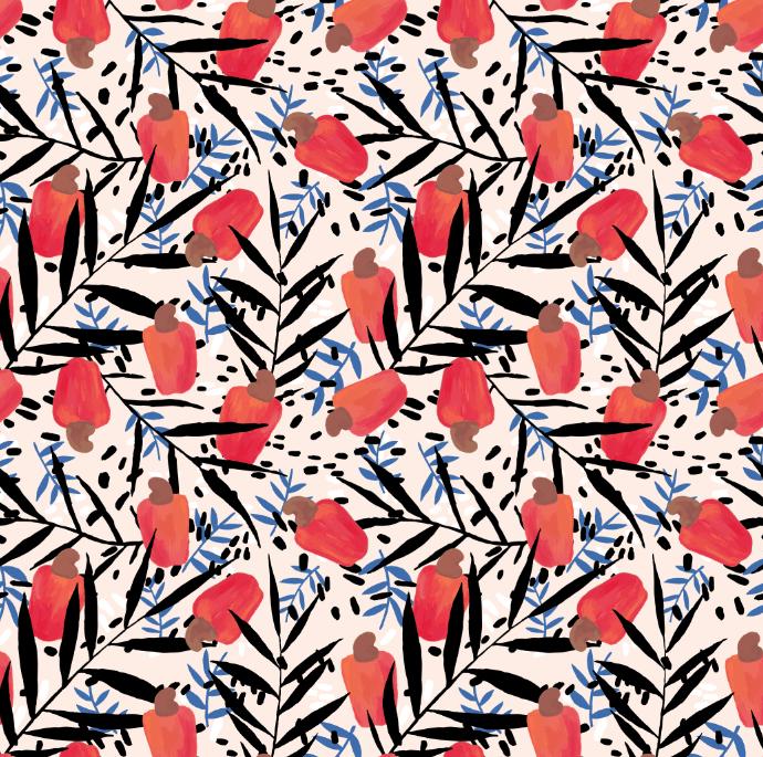 Cashew fruit pattern - image 3 - student project