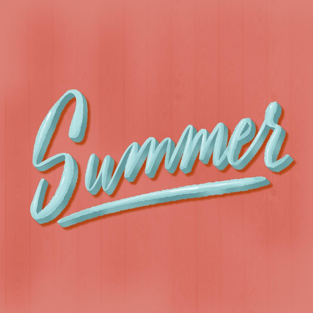 Summer Lettering - image 1 - student project