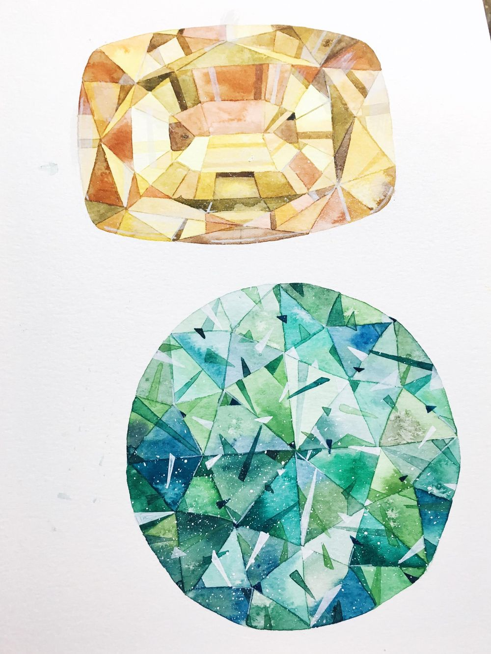 Addicted to Gem painting - image 2 - student project