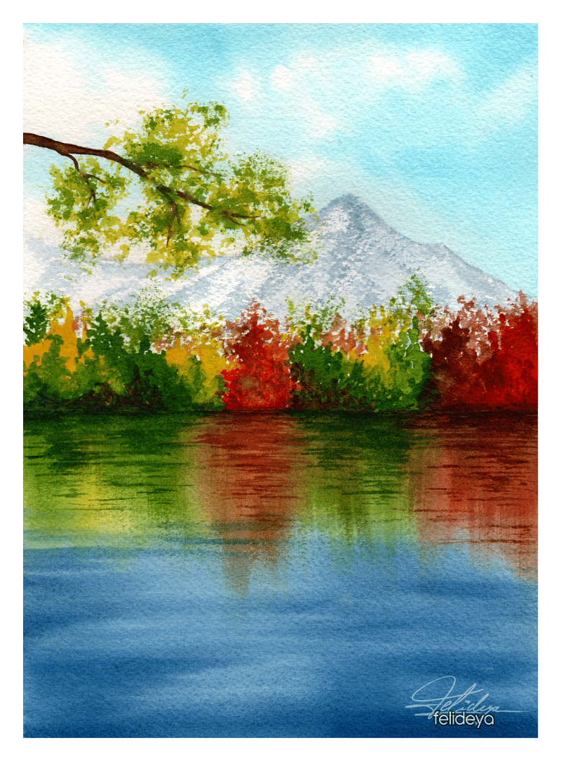 Autumn landscapes with watercolor - image 1 - student project