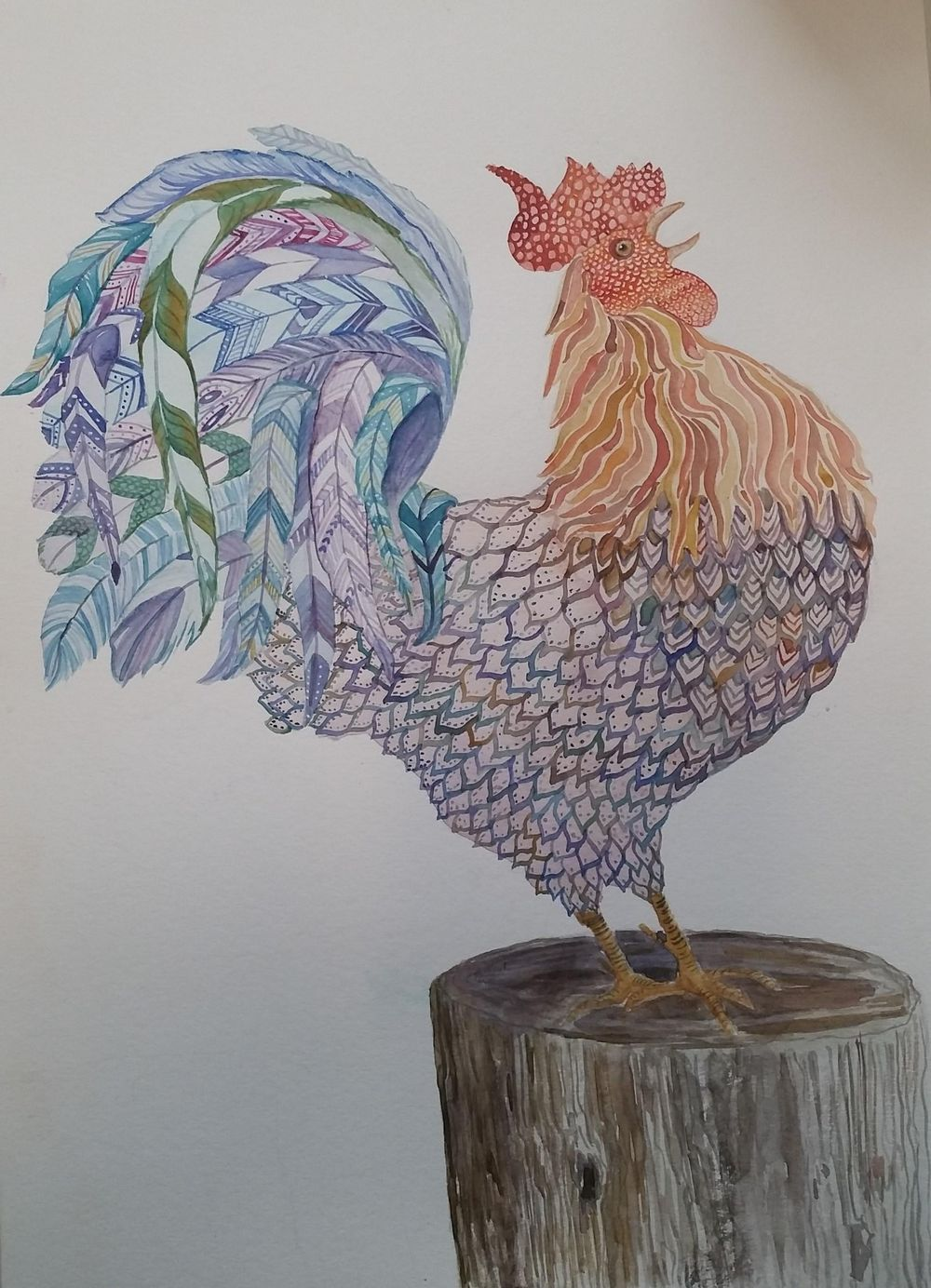 Texture - Rooster - image 2 - student project