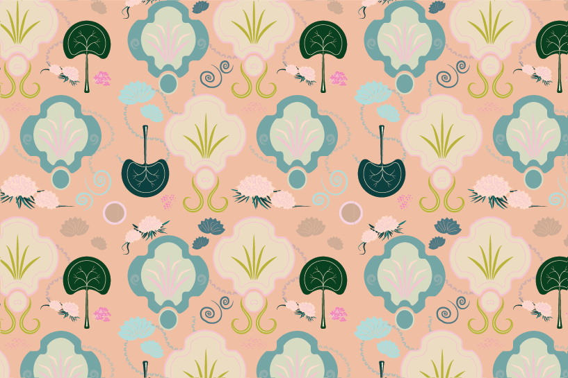 patterns with birds and flowers - image 5 - student project