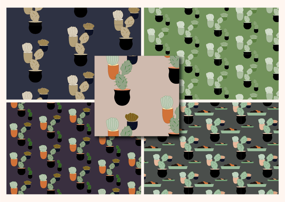 patterns with birds and flowers - image 3 - student project