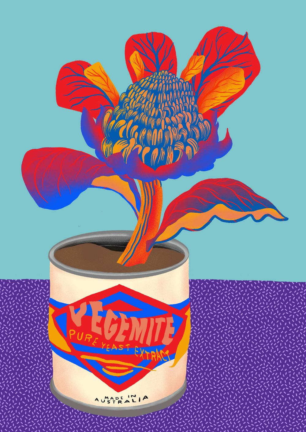 Australiana Wild Flower & Tin Can - image 1 - student project