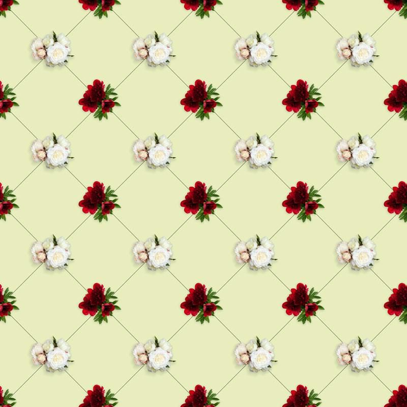 Peonies in a pattern - image 1 - student project
