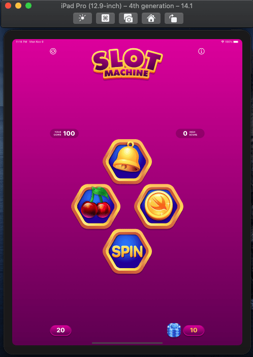 Build an iOS and macOS Game with SwiftUI - image 7 - student project