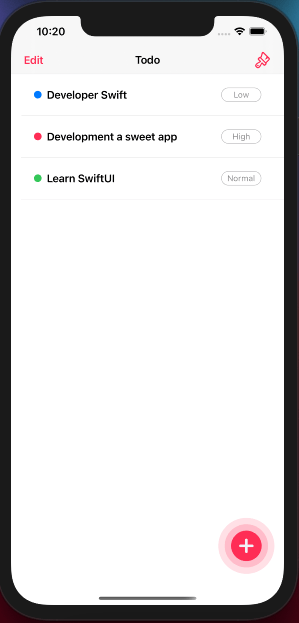 iOS Todo App with Core Data and SwiftUI - image 2 - student project