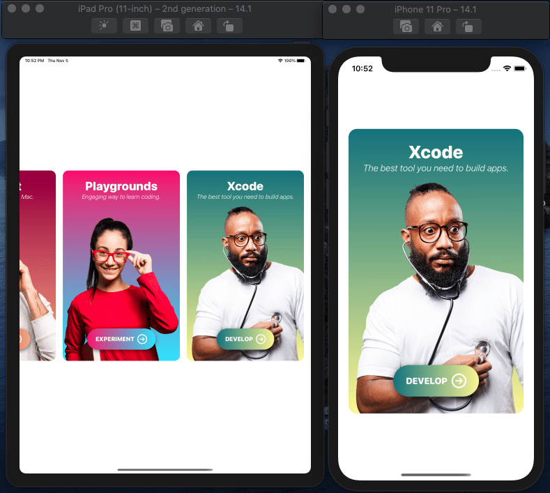 Learn by Doing: Create an awesome iOS card app with SwiftUI - image 4 - student project