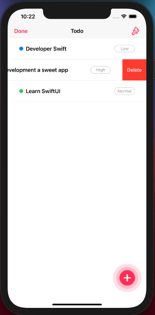iOS Todo App with Core Data and SwiftUI - image 6 - student project