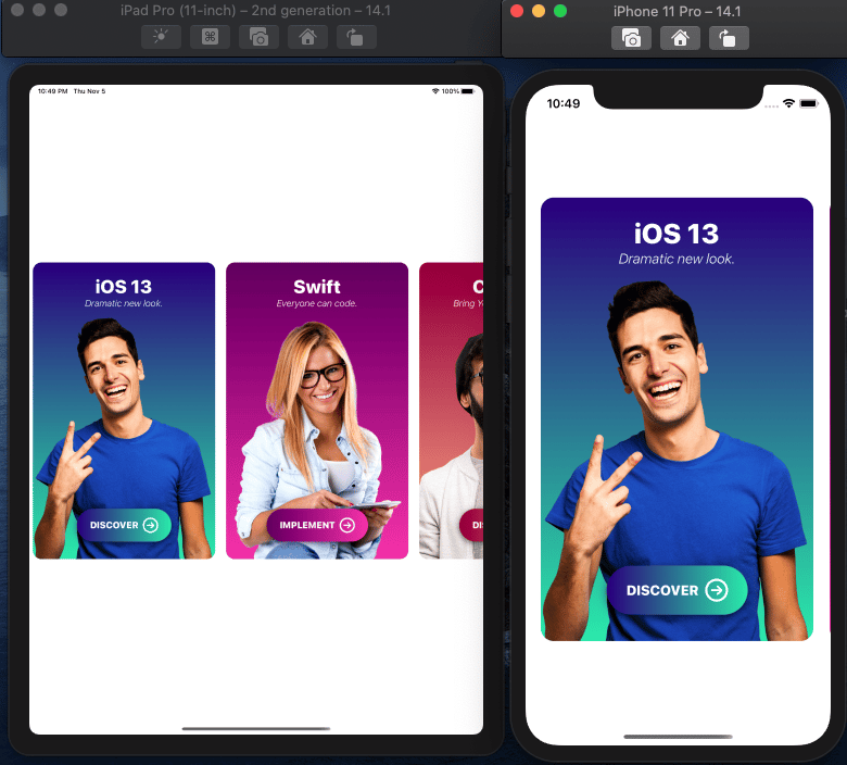 Learn by Doing: Create an awesome iOS card app with SwiftUI - image 5 - student project