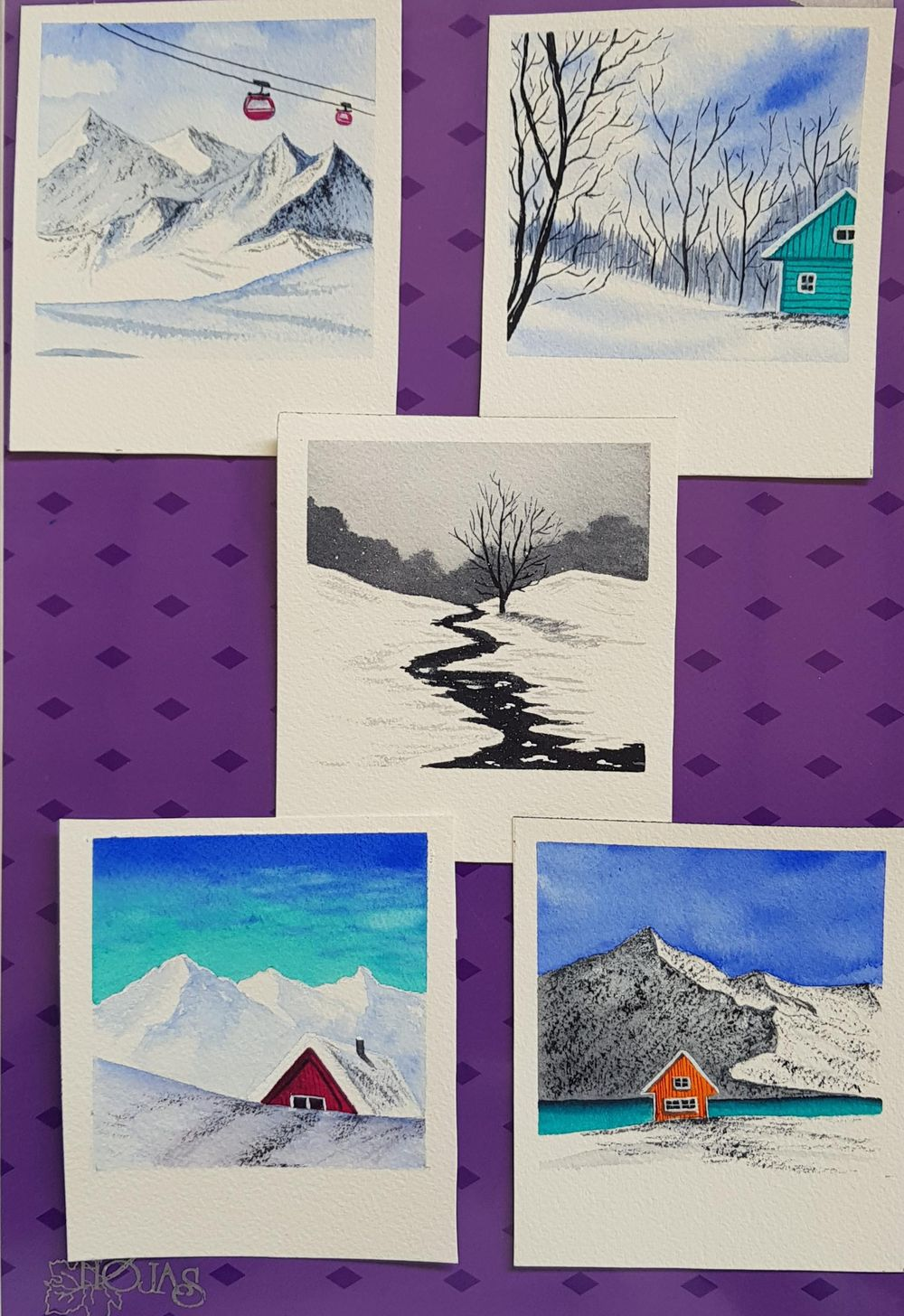Snow landscapes - image 1 - student project