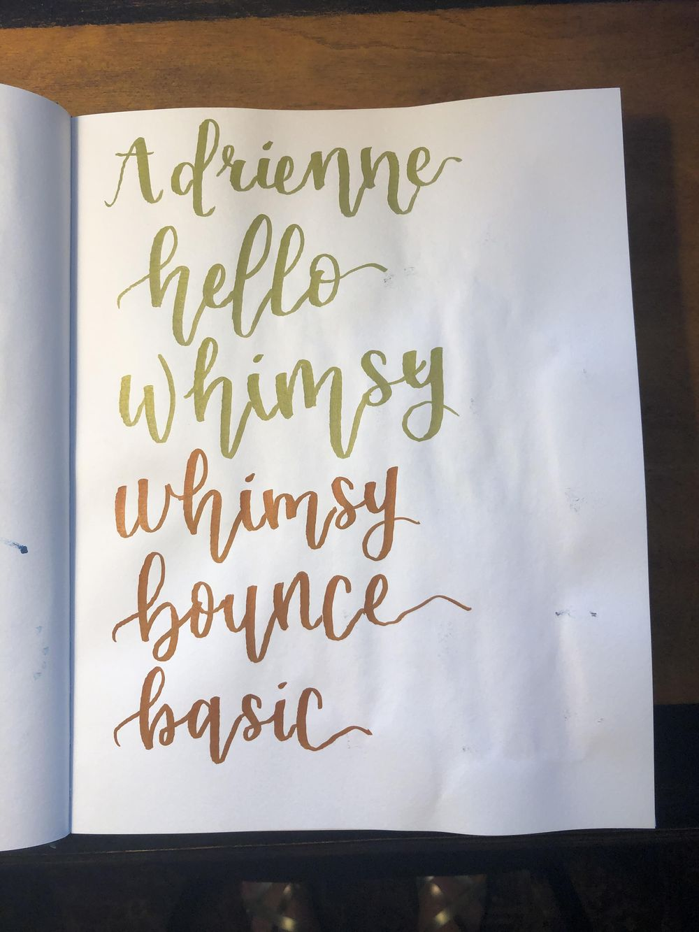 Brush Lettering Class! - image 3 - student project