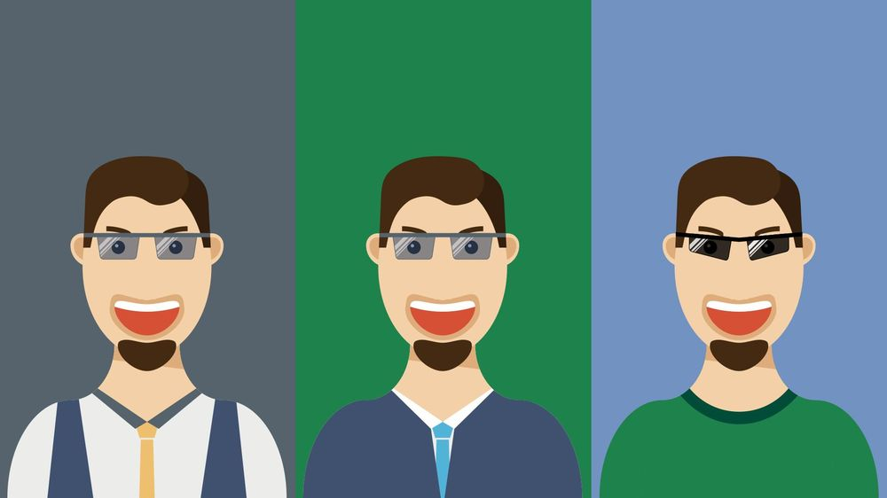 Flat Design Guy with Glases - image 1 - student project