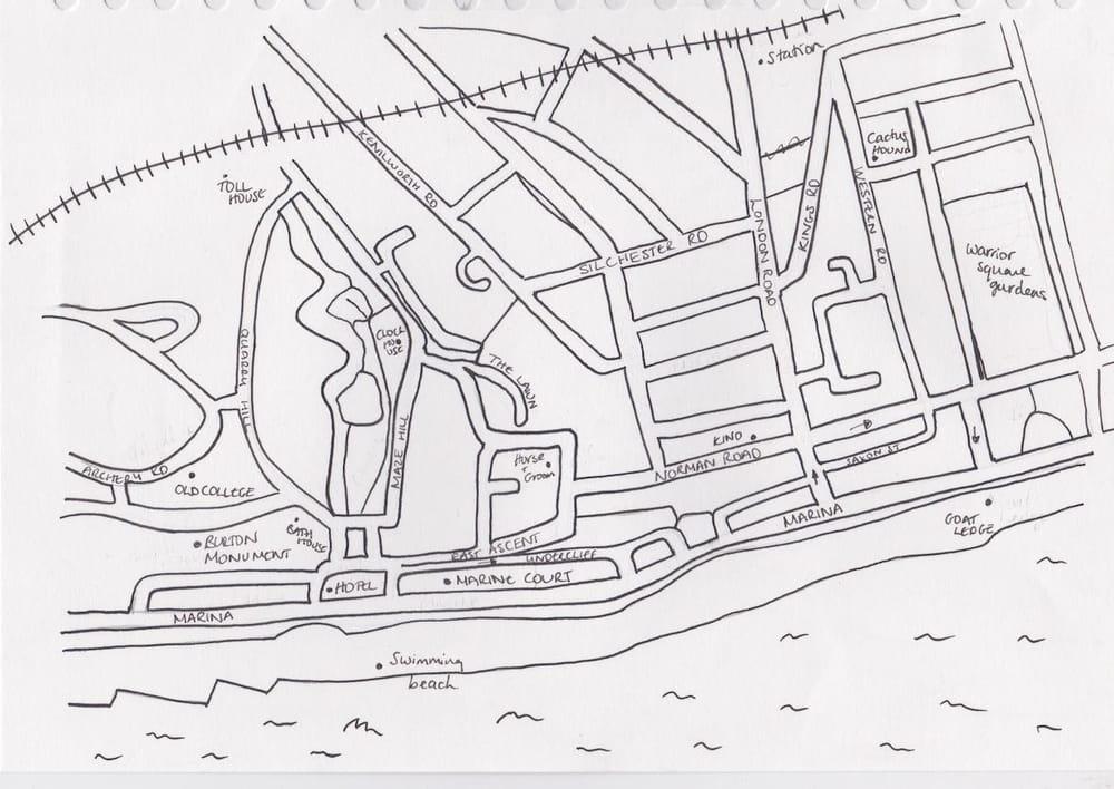 St Leonards Map - image 1 - student project