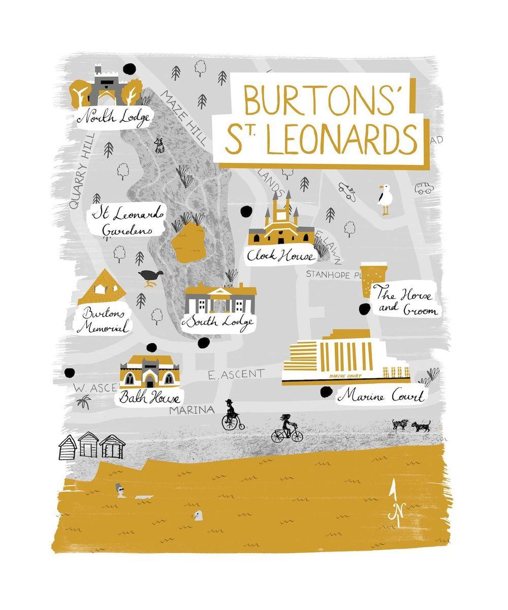 St Leonards Map - image 6 - student project