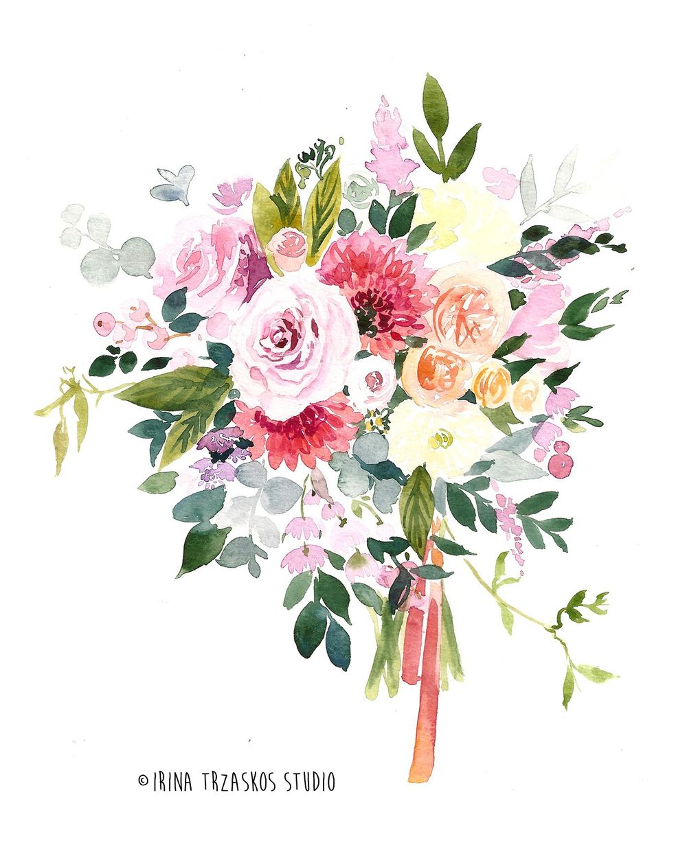 Watercolor Wedding Bouquet {Sample Project} - image 1 - student project