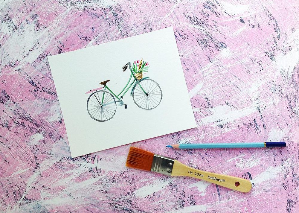 DIY Photo Backdrop for watercolor paintings - image 3 - student project
