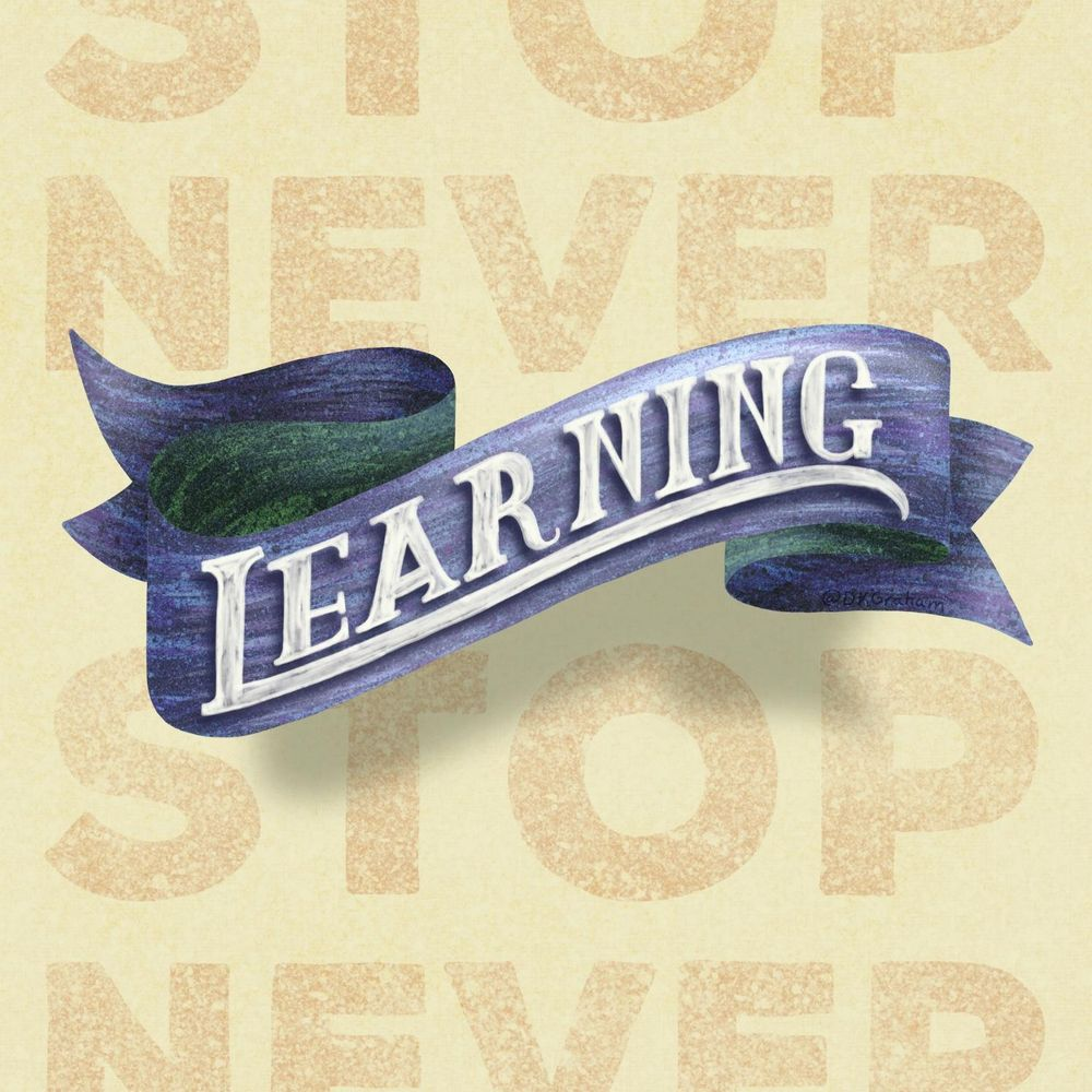 3D Banner - Never Stop Learning - image 1 - student project