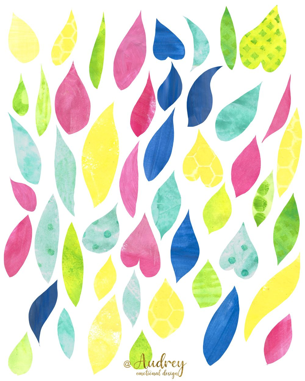 Hand painted Papers - image 1 - student project