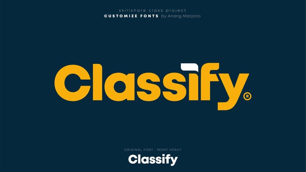 Font Customization on Ai - image 1 - student project