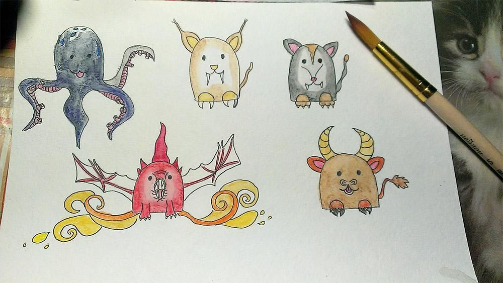 Fairy cute creatures - image 1 - student project