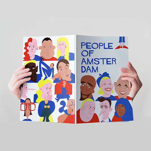 People of Amsterdam - 2nd round drafts and mockup - image 1 - student project
