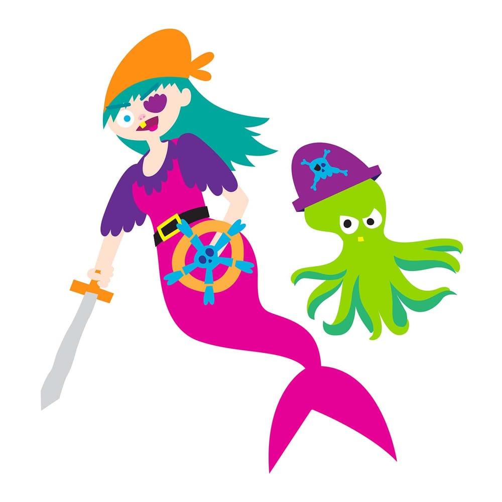 Pirate Mermaid and Octopus Sidekick - image 2 - student project