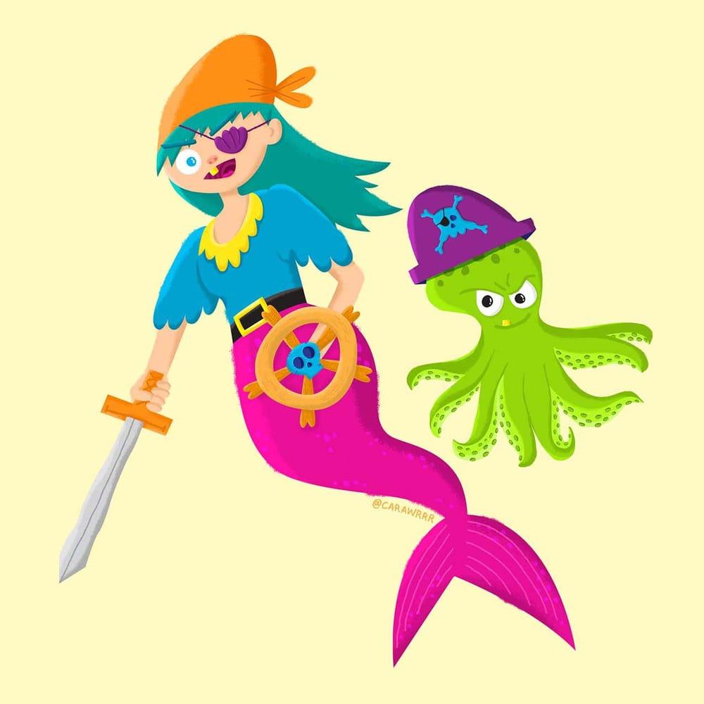 Pirate Mermaid and Octopus Sidekick - image 3 - student project