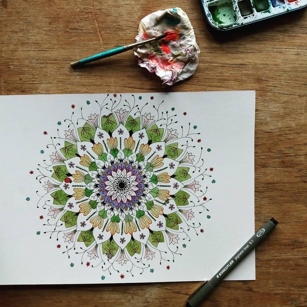 My first botanical mandala - image 1 - student project