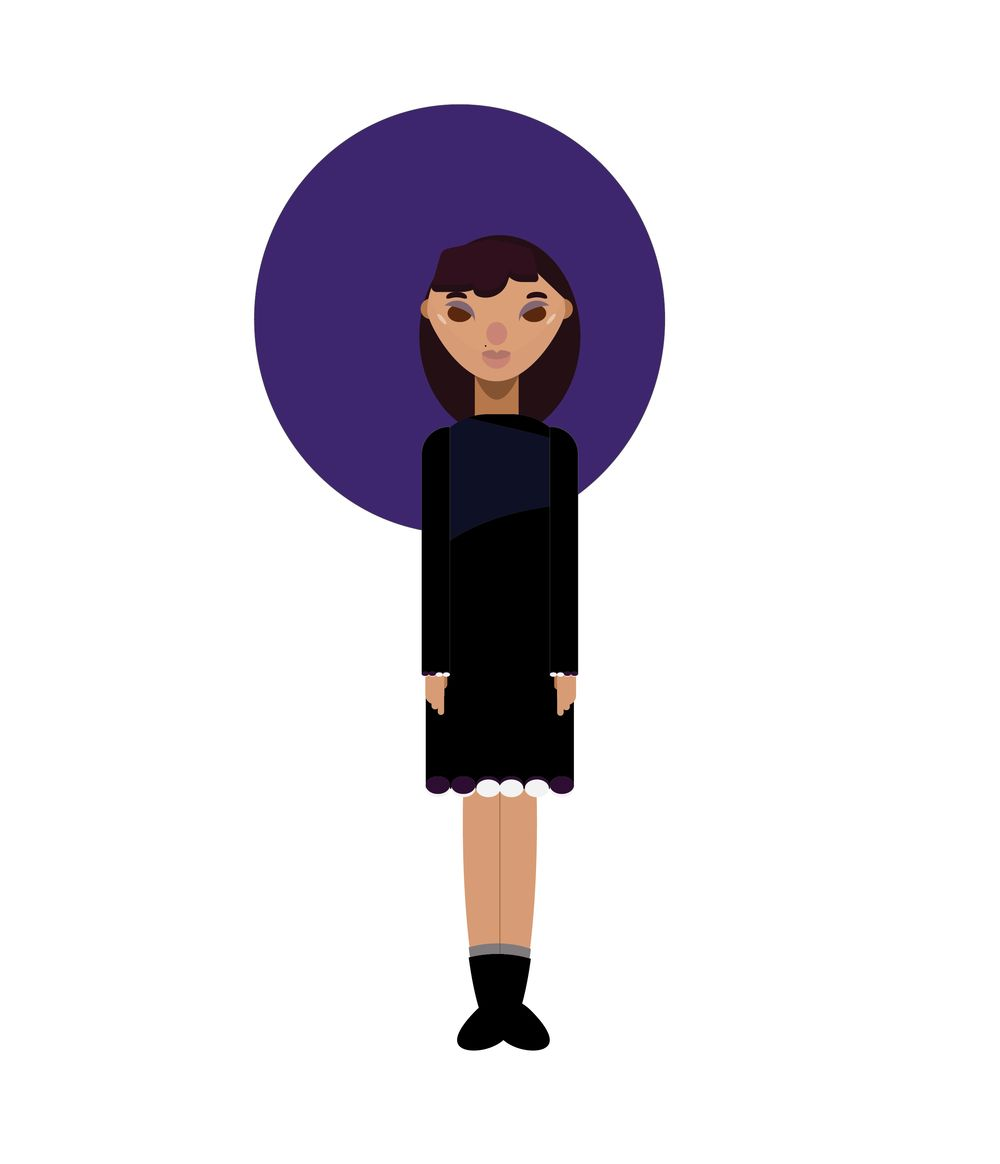 Flat Design Character in Illustrator - image 1 - student project