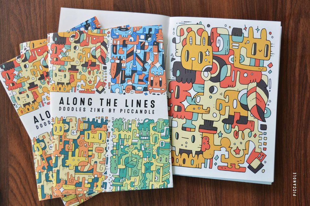 Along the Lines | Colorful Doodles Zine - image 6 - student project