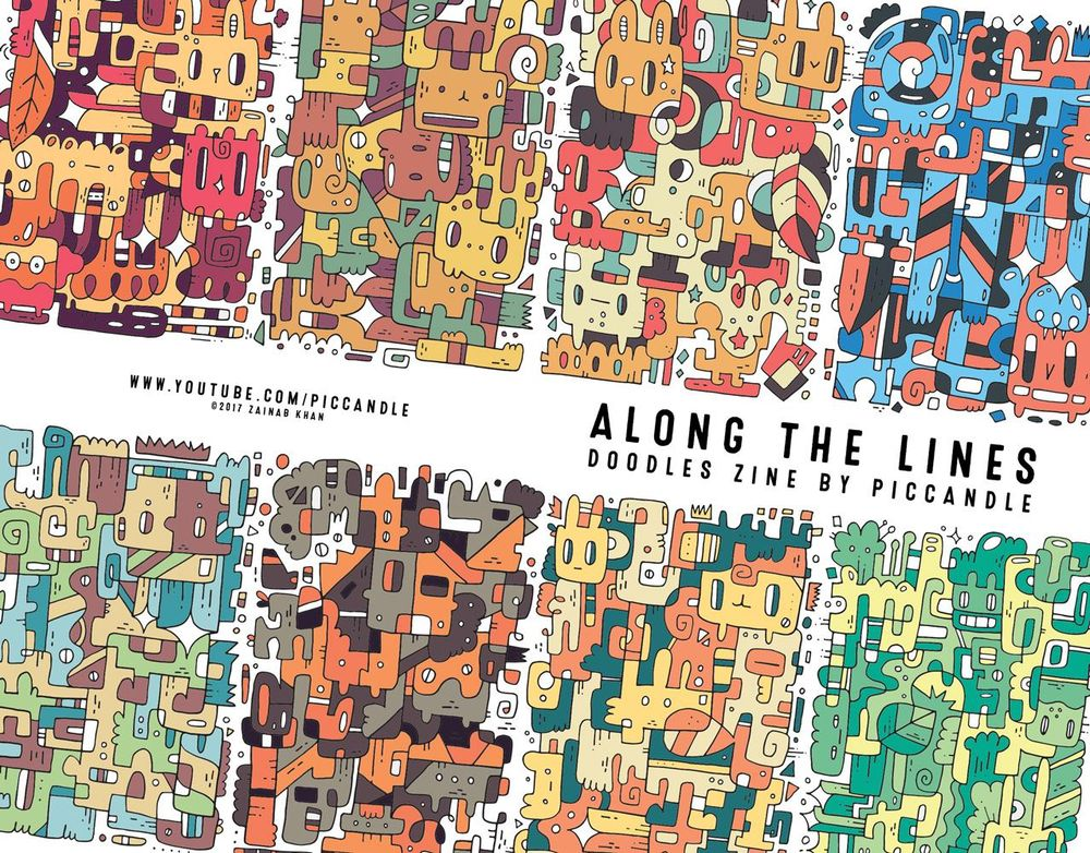 Along the Lines | Colorful Doodles Zine - image 3 - student project