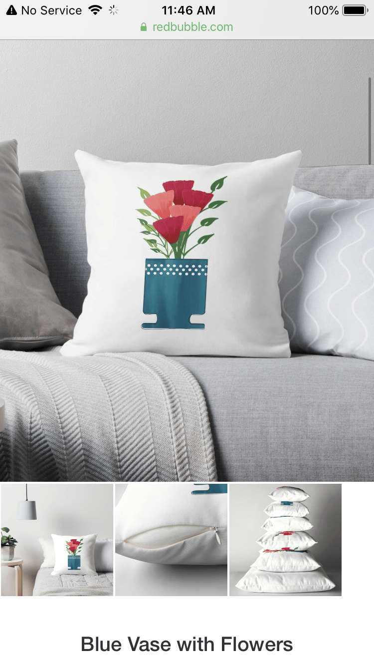 A product listing on Redbubble - image 1 - student project