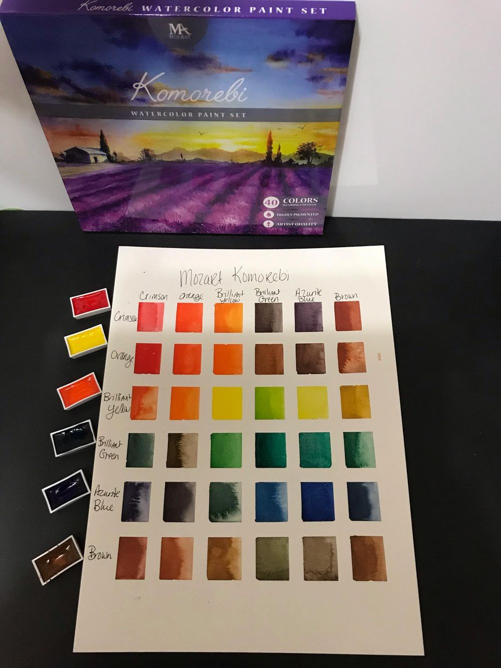 Mozart Komorebi Color Chart - image 3 - student project