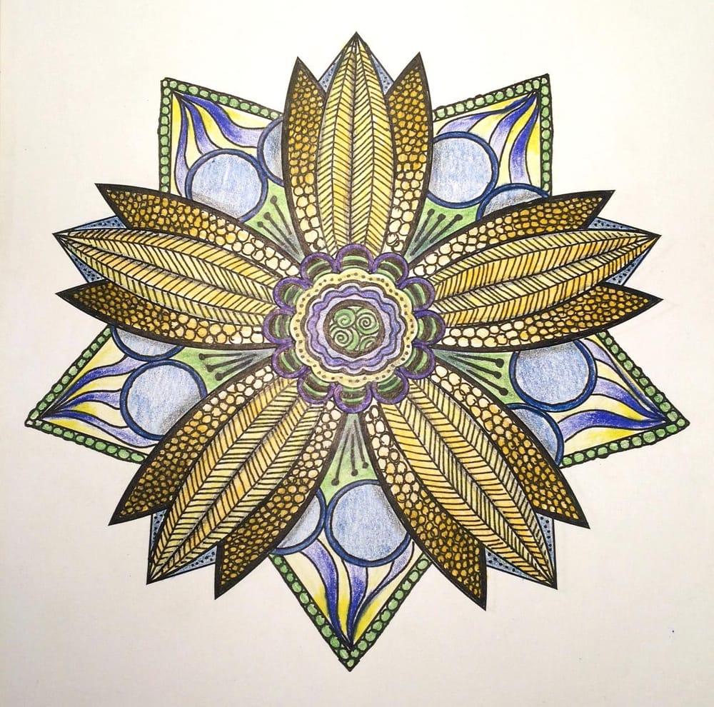 Sunshiny Star Mandala - image 2 - student project
