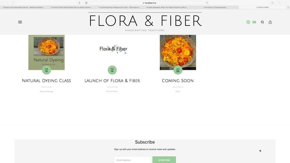 Flora & Fiber Social Media Plan - image 2 - student project