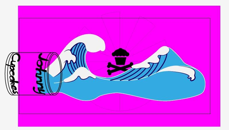 """Johnny Cupcake Design """"Wave off Mt Cupcake"""" - image 8 - student project"""