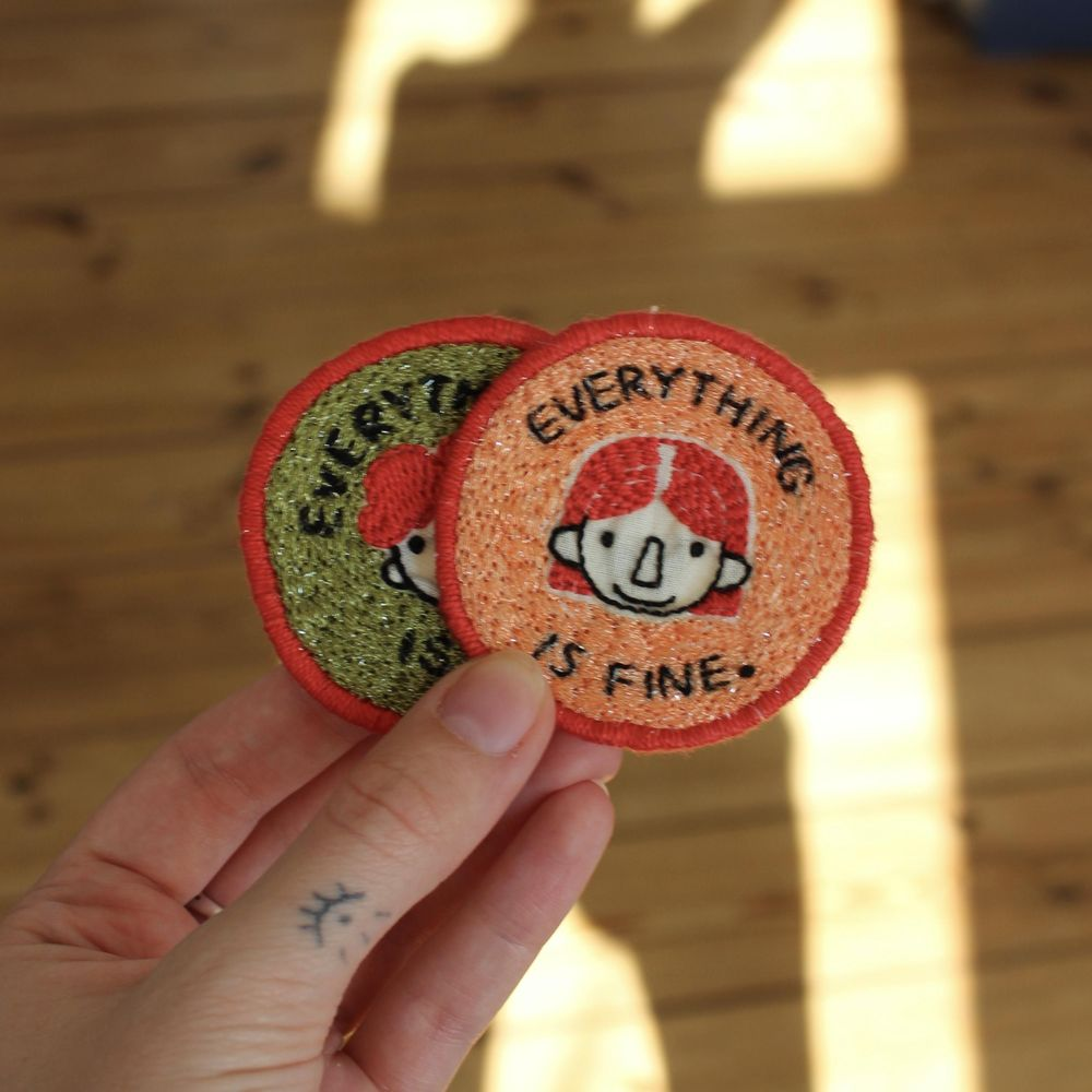 """""""Everything is fine"""" Patches - image 1 - student project"""