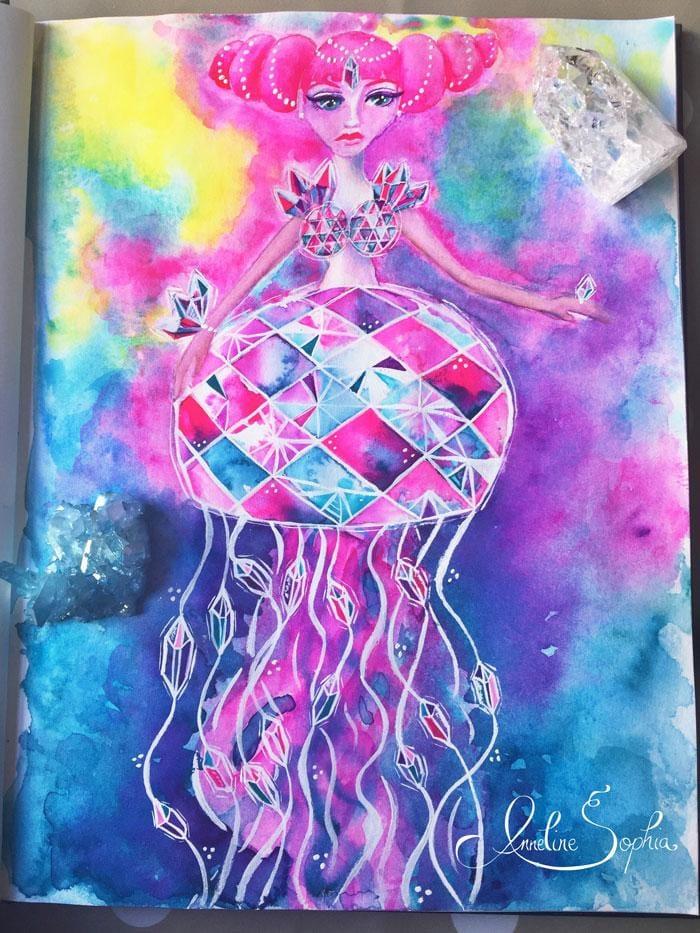 Crystal Jellyfish Mermaid - image 1 - student project